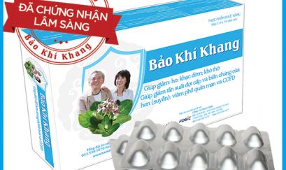 Sản phẩm bảo Khí Khang - thảo dược hỗ trợ điều trị các bệnh hô hấp mạn tính